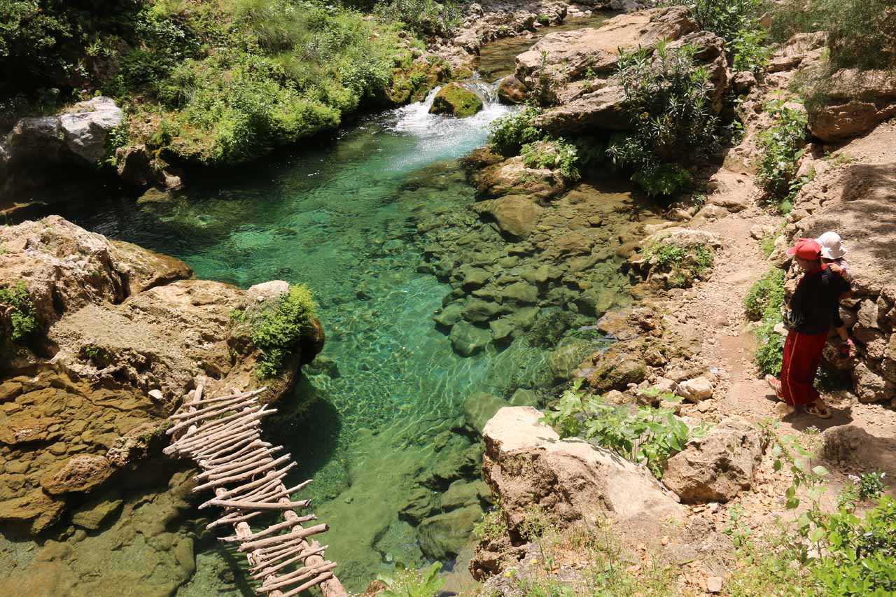 The river water was very clear as we made our way to the Bridge of God