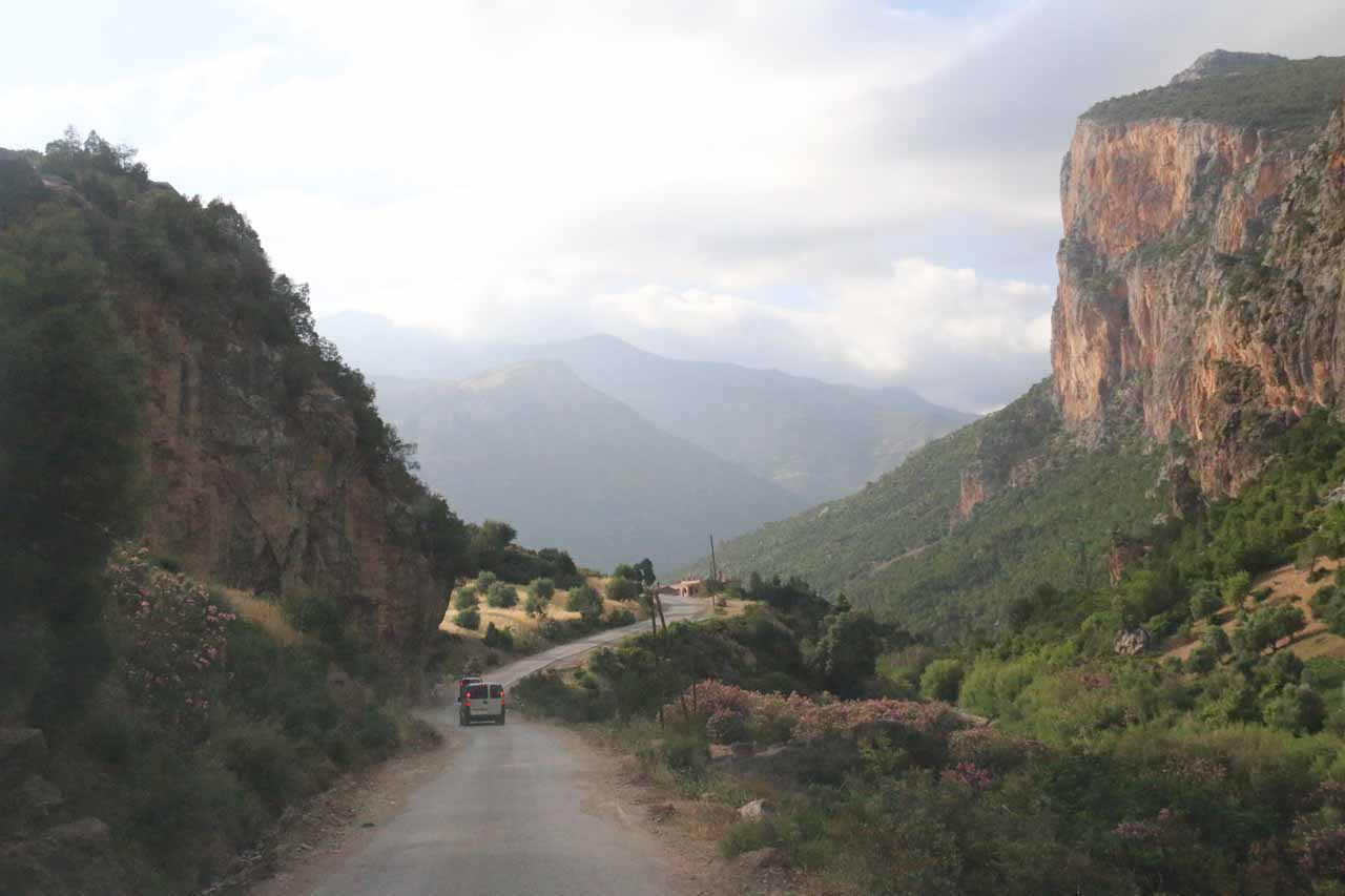 Heading back towards Chefchaouen as it was getting late in the day when we left Akchour