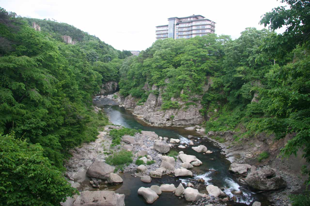 After visiting Akiu-o-taki, we explored the serene Rairaikyo Gorge in the town of Akiu Onsen next to our accommodation