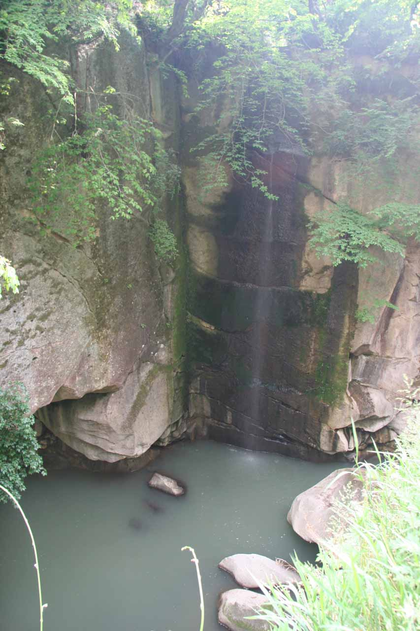 I believe this was the Shigure-taki Falls inside the Rairaikyo Gorge