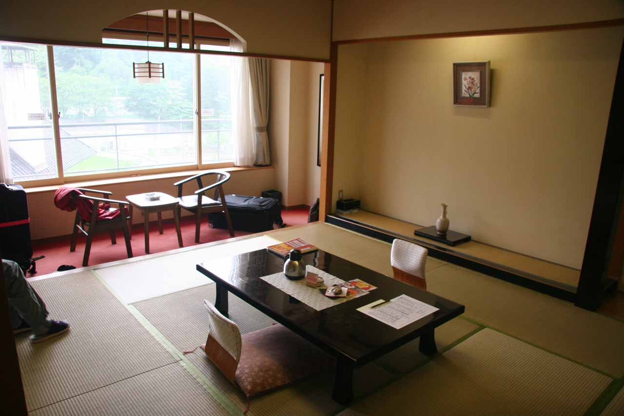 After visiting the Akiu Waterfall and the Rairaikyo Gorge, we finally got to relax in our tatami-style accommodation in Akiu Onsen