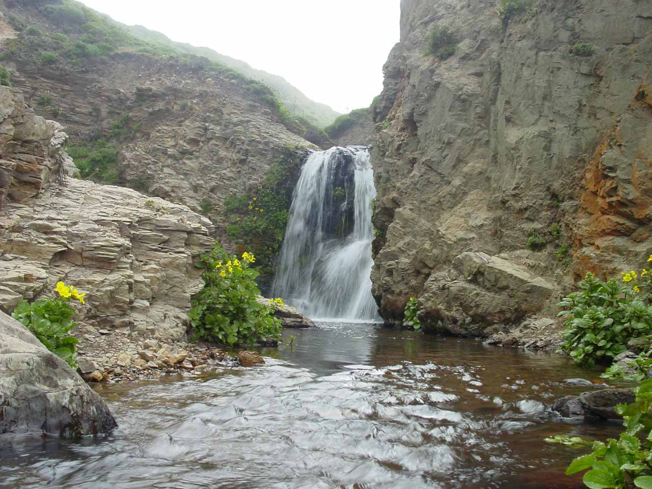 Pretty upper cascade of Alamere Falls