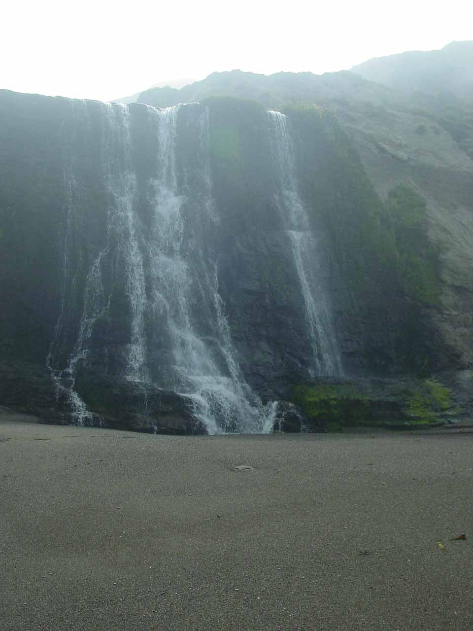 Looking back at Alamere Falls