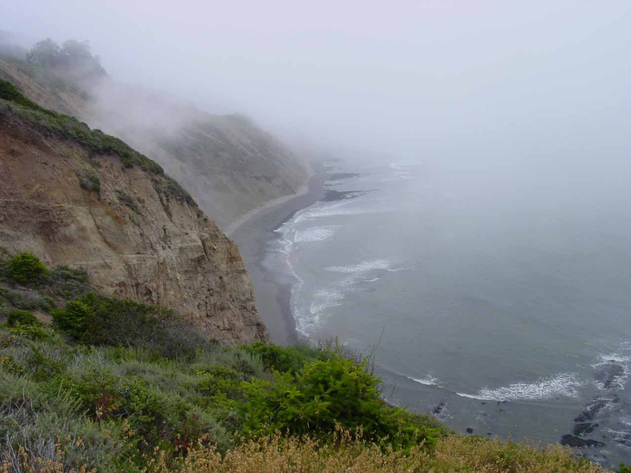 Still foggy along the coast as we got closer to the trailhead