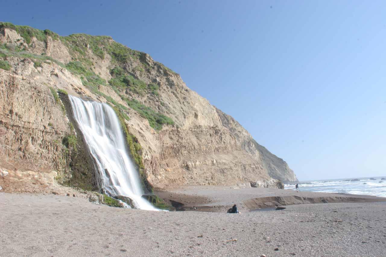 Alamere Falls and the coarse sand beach