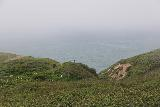 Alamere_Falls_125_04192019 - Looking ahead towards some people coming back from the steep scrambles alongside the tiers of Alamere Falls during my April 2019 visit