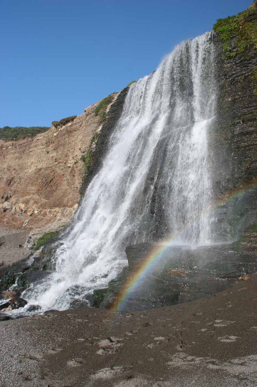 We showed up in time to see a lovely rainbow fronting Alamere Falls