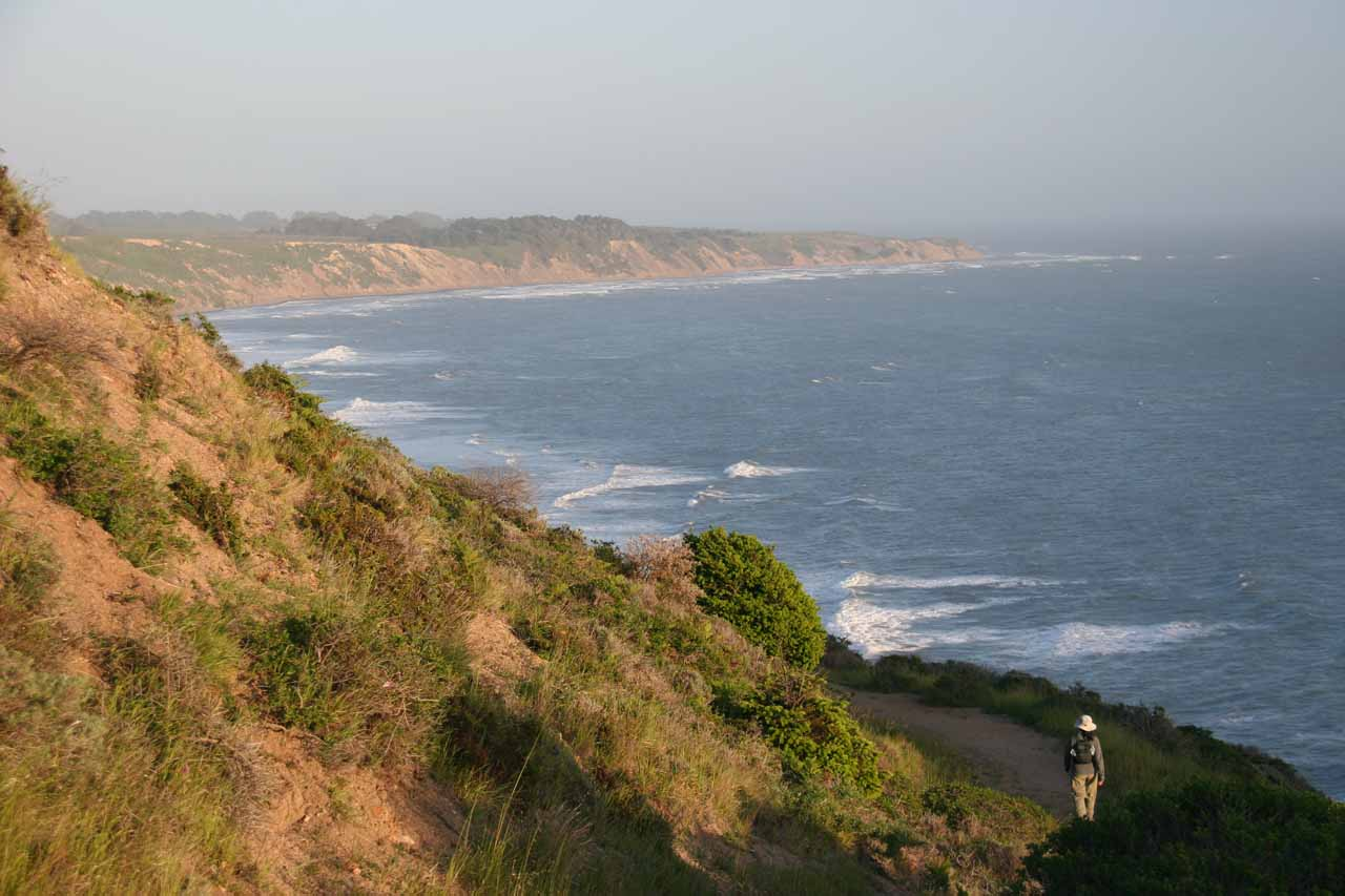 The short detour on a narrow trail hugs the cliffs but provides even more gorgeous coastal views