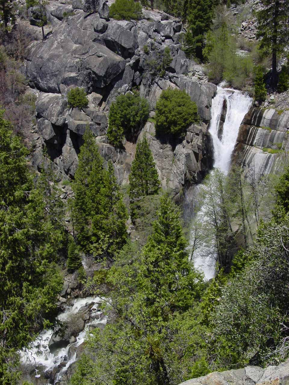 Perhaps the most satisfying shot of Alder Creek Falls that I could get from the trail