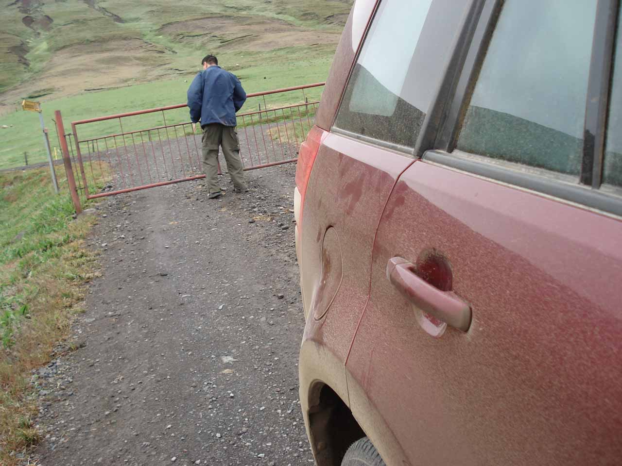 This was the gate where I had to leave the car to open the gate, get back in the car to drive through it, then leave the car to close the gate before I got back in the car to drive again