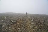 Aldeyjarfoss_004_08122021 - Mom making her way into the fog as we pursued Aldeyjarfoss under some deteriorating conditions