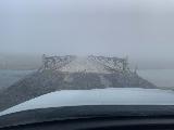 Aldeyjarfoss_020_iPhone_08122021 - The visibility was quite bad when we had to cross the Skalfandafljot over this narrow bridge on the F26 Sprengissandur Road on the return from Aldeyjarfoss