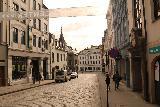 Alesund_020_07172019 - Julie and Tahia walking along the cobblestone streets in the sentrum in Alesund