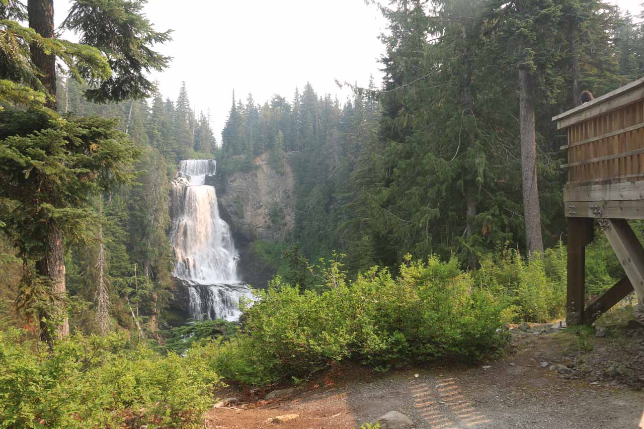 Another contextual look at Alexander Falls with the lookout to my right