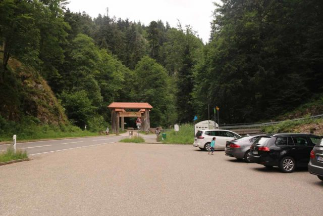 Allerheiligen_001_06222018 - The car park for the Allerheiligen Waterfalls Trail, which was right at a hairpin turn next to these archways