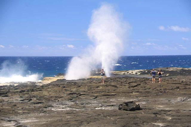 Alofaaga_Blowholes_045_11142019 - Further to the west of the Afu Aau Waterfall were the Alofaaga Blowholes, which shot up like geysers as the turbulent ocean swells pushing against the lava fields created the right conditions for such a show