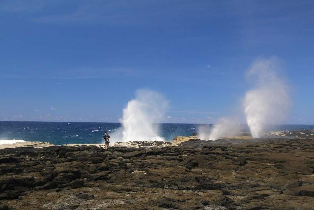 Alofaaga_Blowholes_059_11142019 - Further to the west of the Mu Pagoa Waterfall were the Alofaaga Blowholes, which shot up like geysers as the turbulent ocean swells pushing against the lava fields created the right conditions for such a show