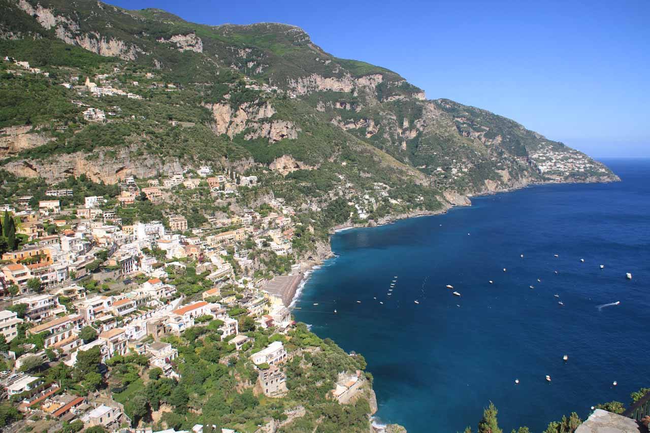 Belvedere of Positano on the Amalfi Coast