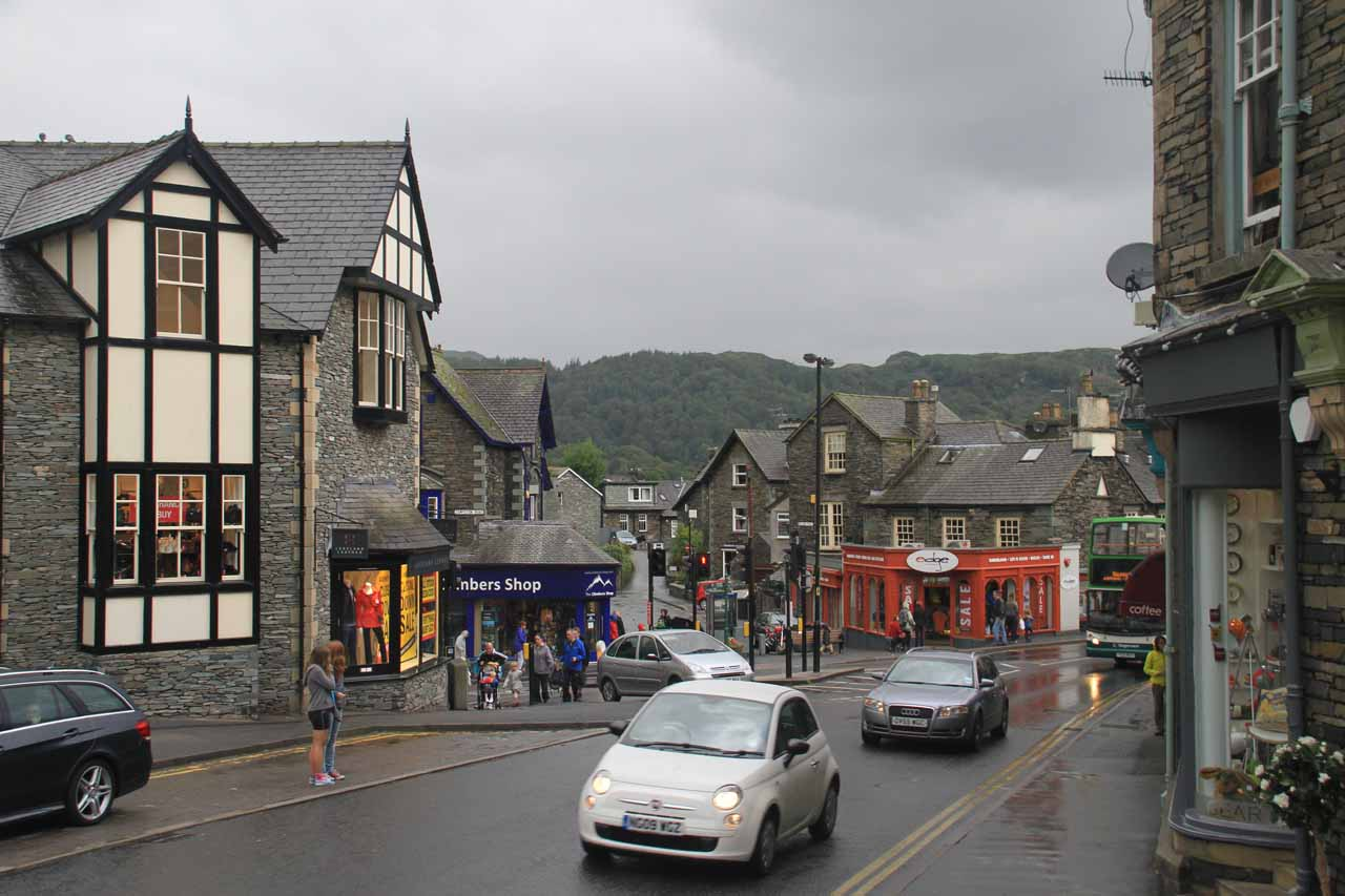 The charming time of Ambleside even with the heavy rain