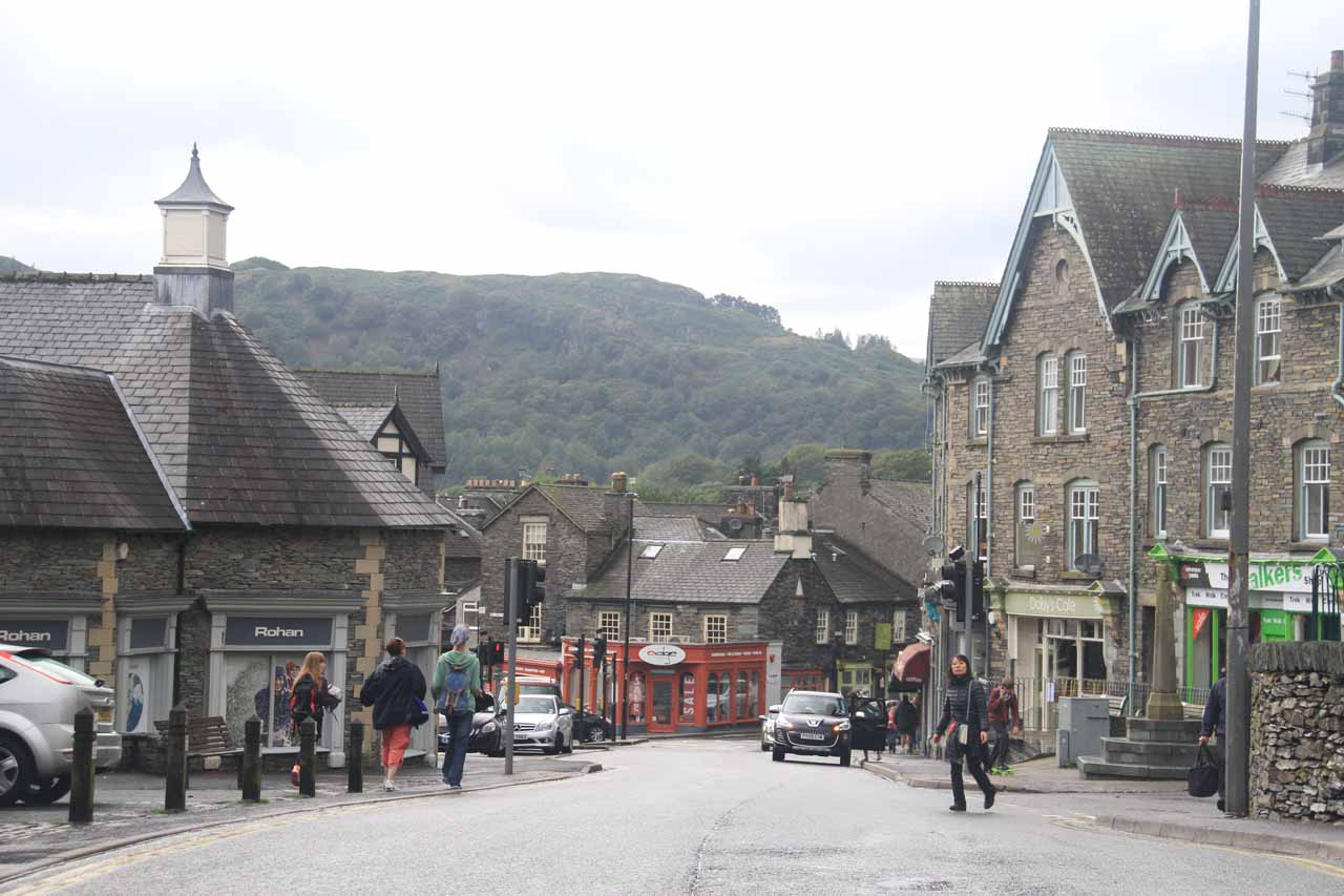 A little more pedestrian activity in Ambleside now that the rain has subsided