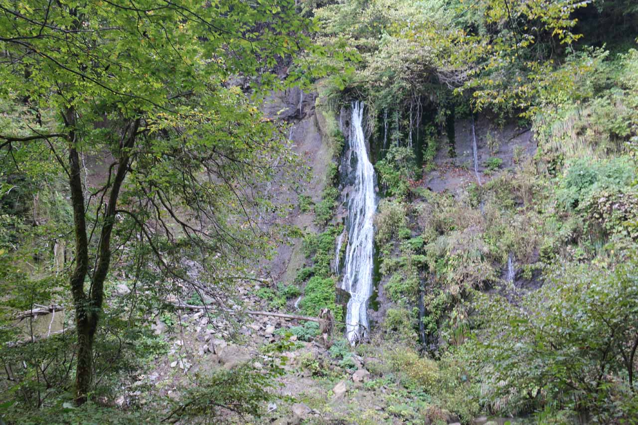 Once we were at the bottom of the descent, we got this view of the Nunobiki Waterfall