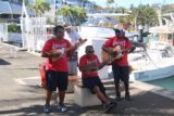 Amedee_001_11302015 - A small ukelele band playing a mix of Polynesian and French music as we were about to embark on our Phare Amedee Tour