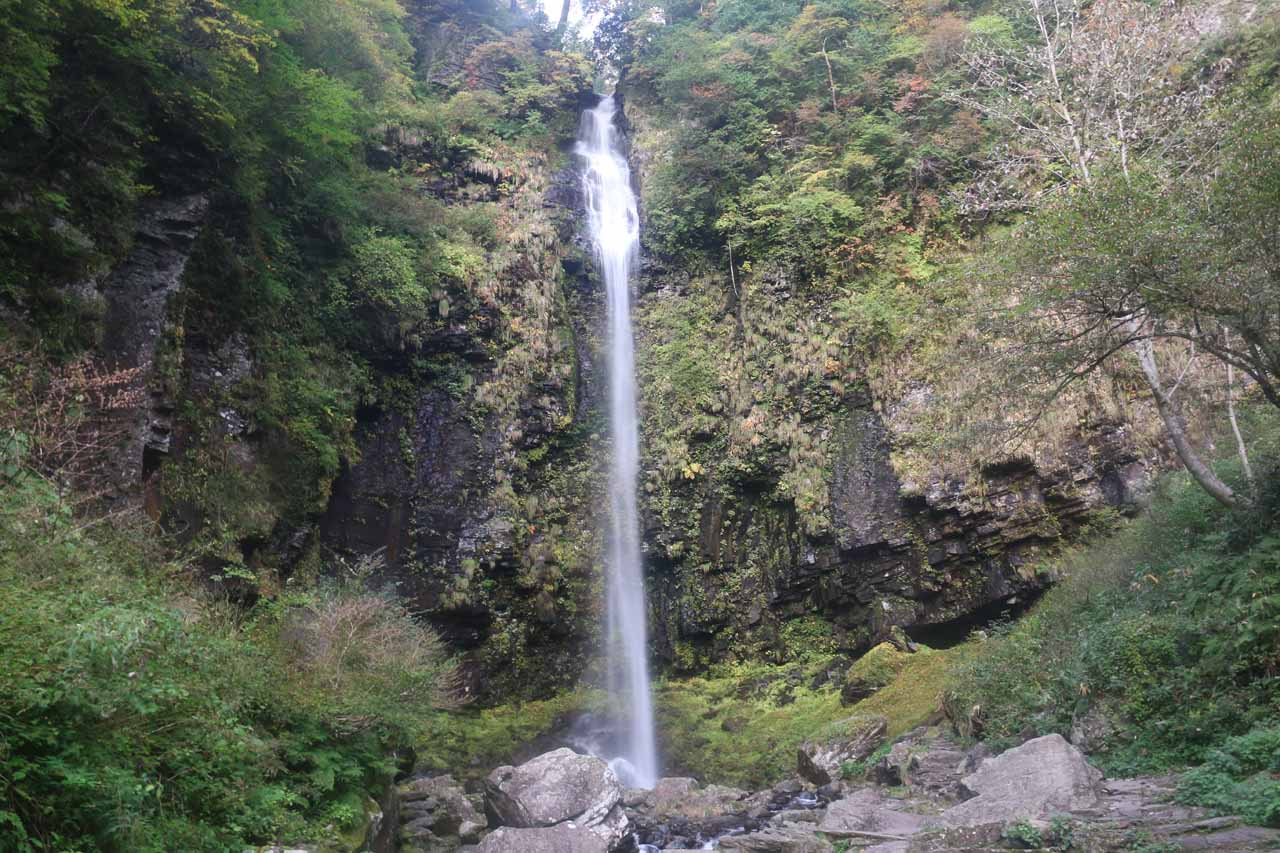 Last direct look at the Amida Waterfall before heading back to the car park