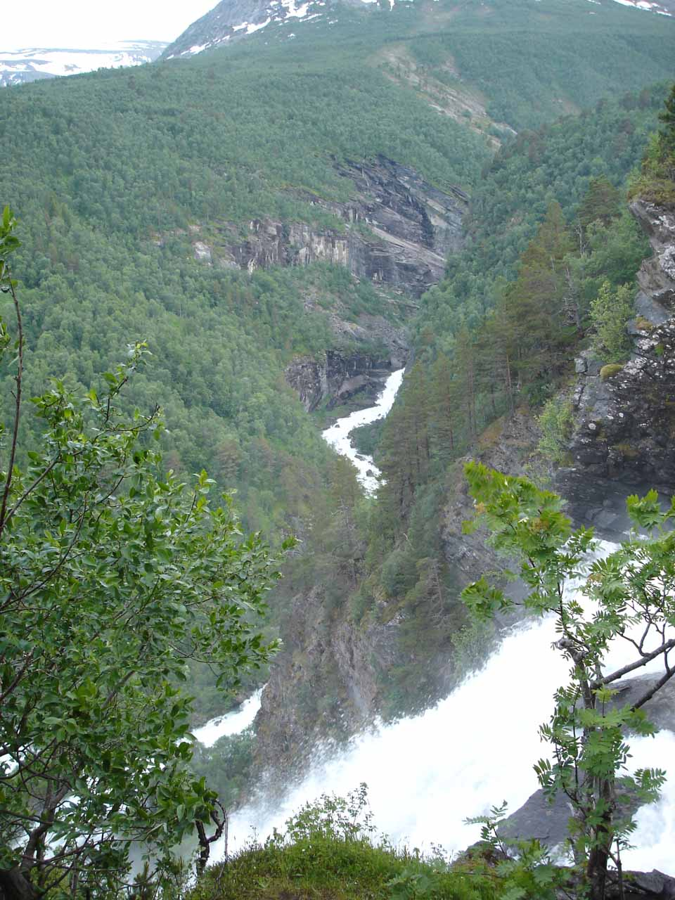 This was the view from the top of Svøufossen as we had mistakenly driven up Snøgtu before realizing our mistake then backtracking on the correct road towards the Jenstad farm