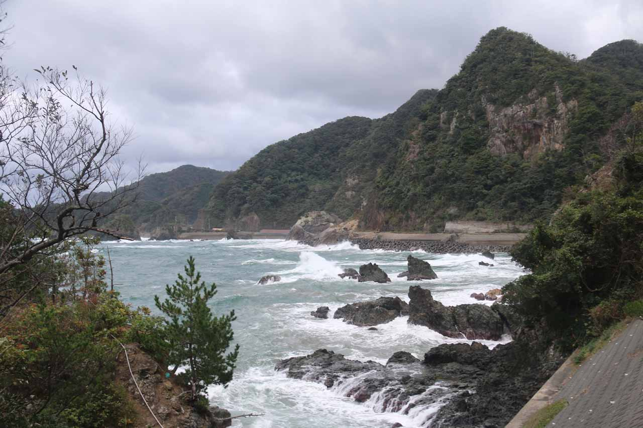 East of Tottori was the impressive northern coastal scenery of the Anami Coast, where we could see the Sea of Japan eroding away at some eccentric lava and rock formations