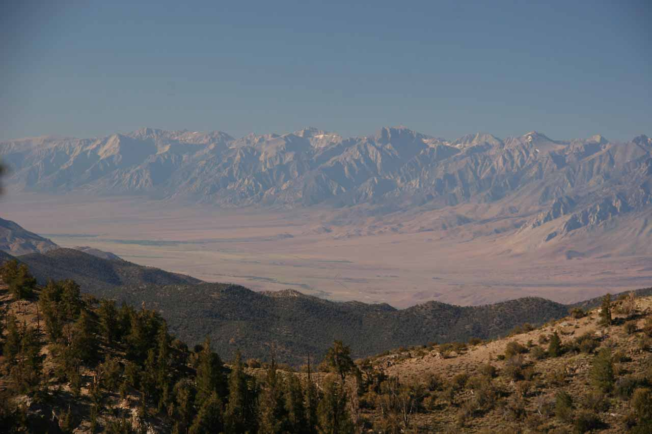 Looking out towards the Sierras from the trail