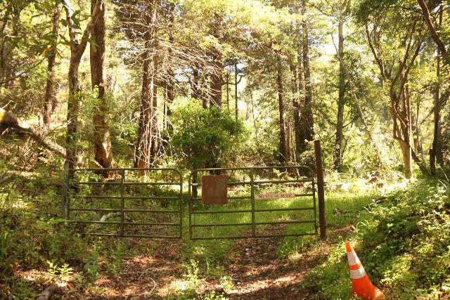 Andrew_Molera_Falls_007_04242019 - This was the fence blocking the unpaved road leaving Hwy 1, and it was the key landmark for at least getting started finding the Andrew Molera Falls