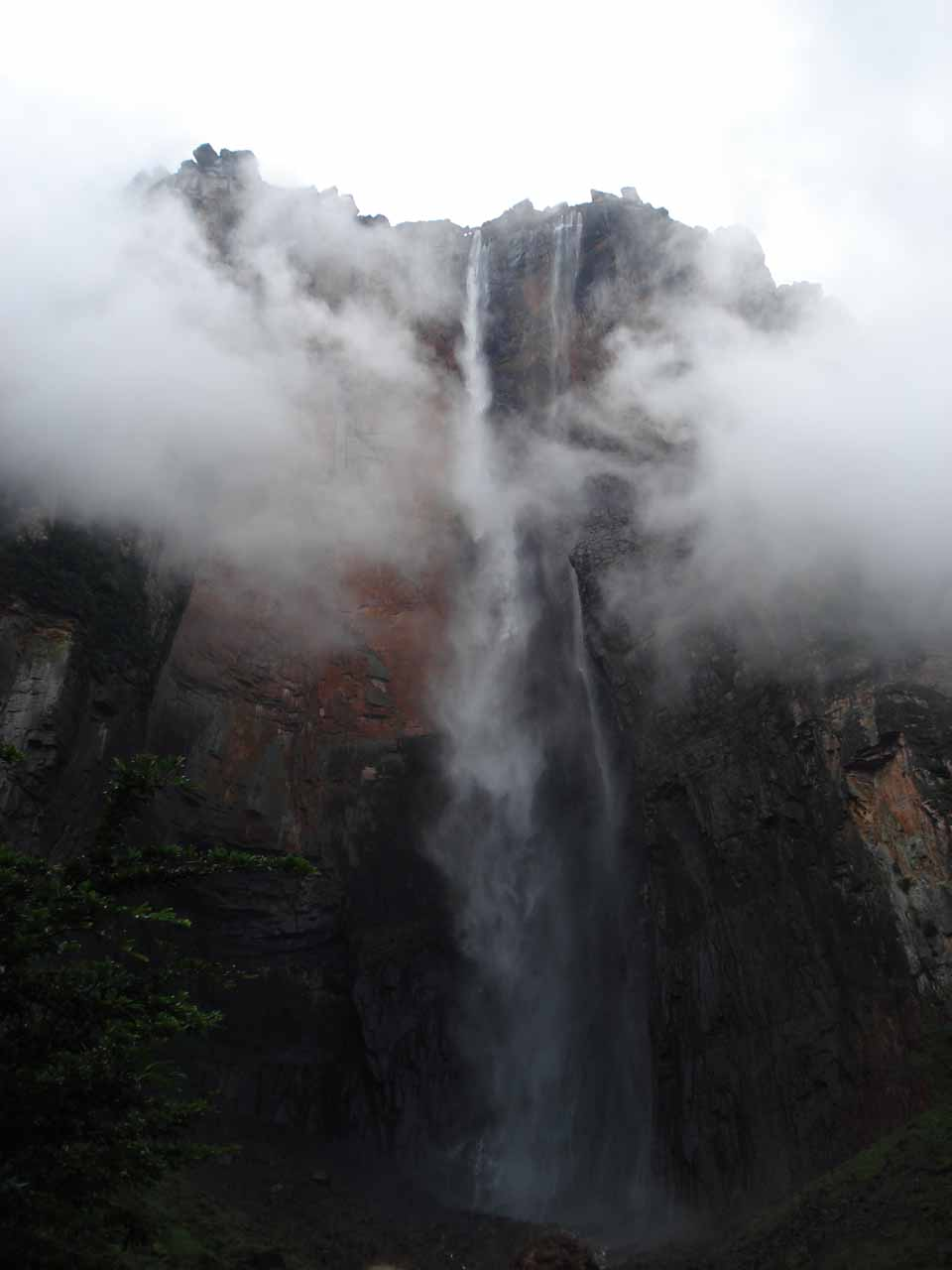 View of Angel Falls from Mirador Laime in light to average flow