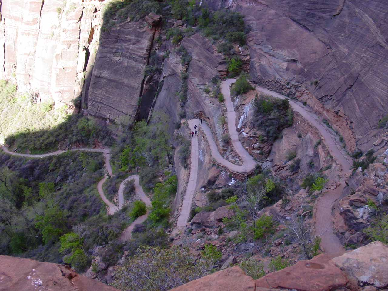 Switchbacks on the Angels Landing Trail