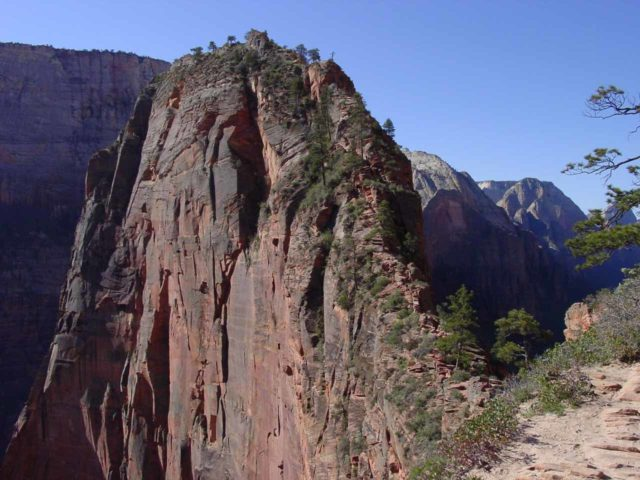 Angels_Landing_021_04272003 - Angel's Landing from Scout's Lookout