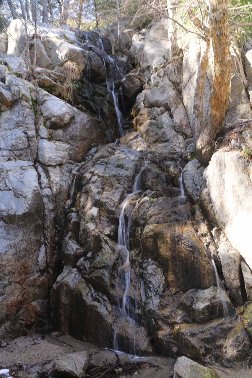Our first look at the so-called Middle Control Road Falls or Cold Creek Falls