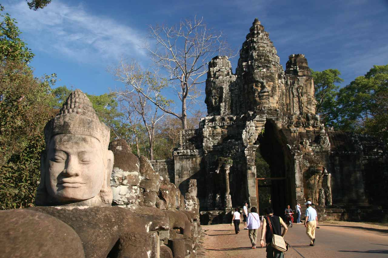Faces before the South Gate of Angkor Thom