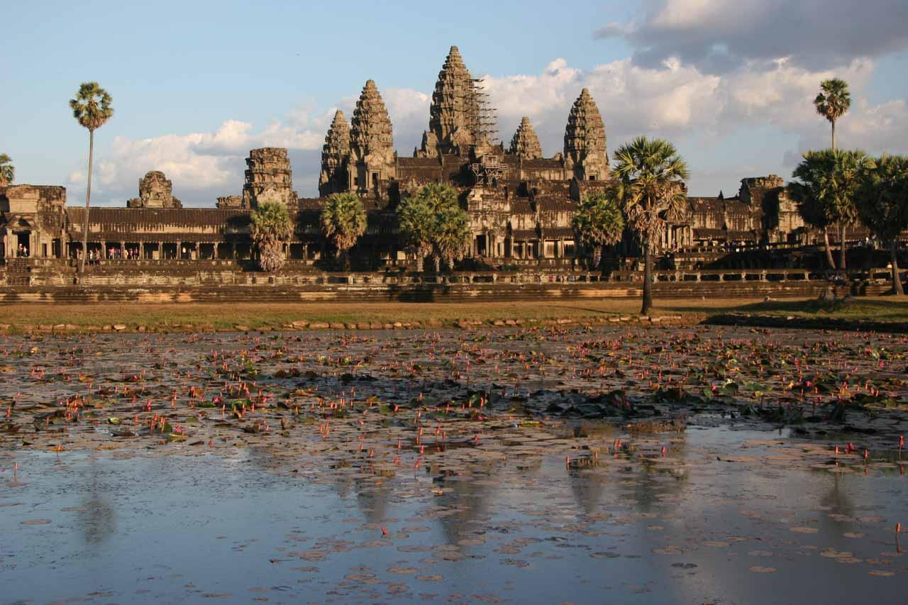 Familiar postcard view of Angkor Wat