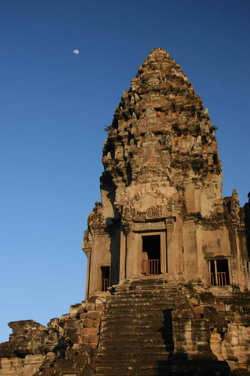 An Angkor Wat prang and moon
