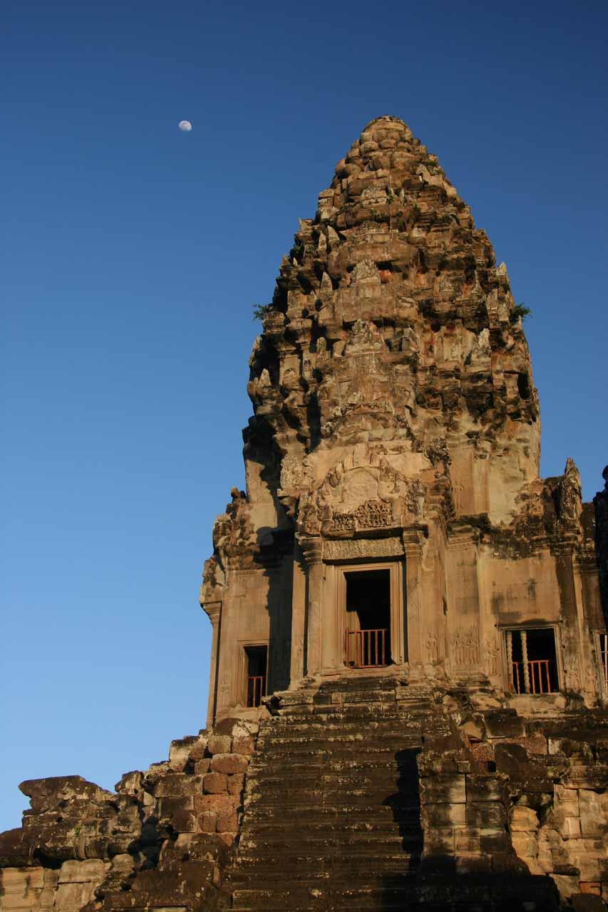 An Angkor Wat prang and moon