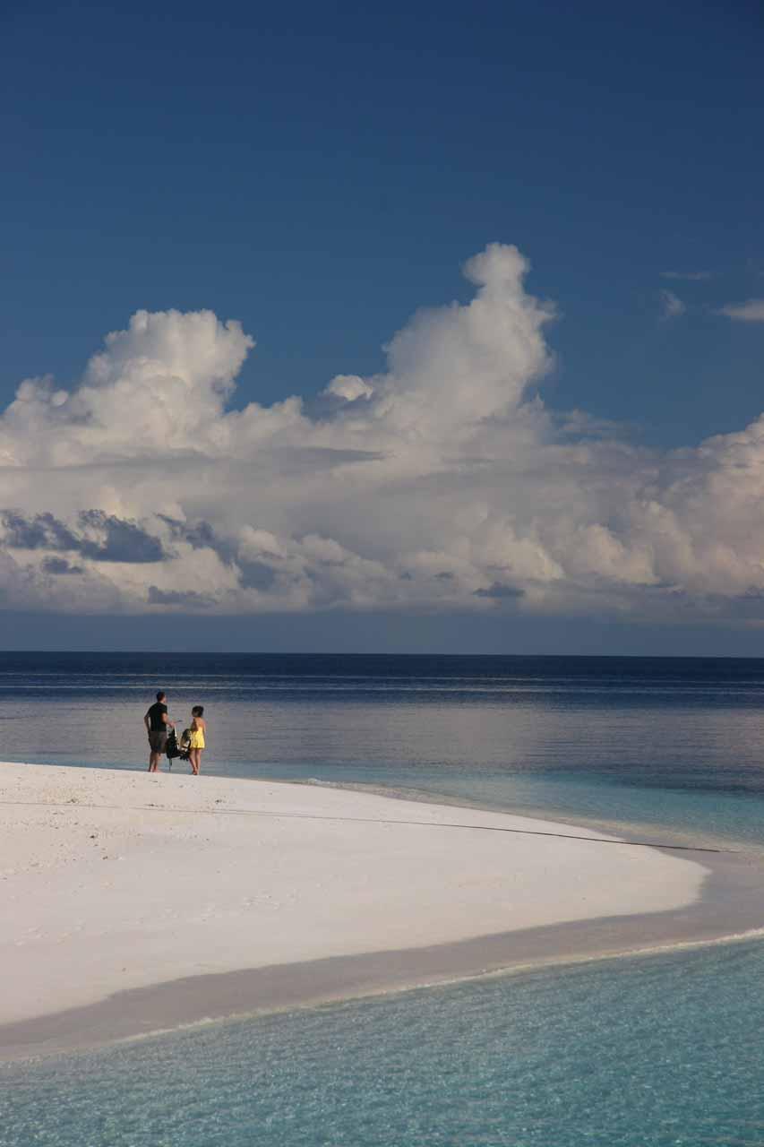Lounging around the beaches around the Angsana Resort