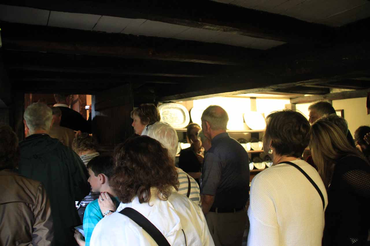 It was crowded inside the Anne Hathaway Cottage thanks to the tour group preceding us