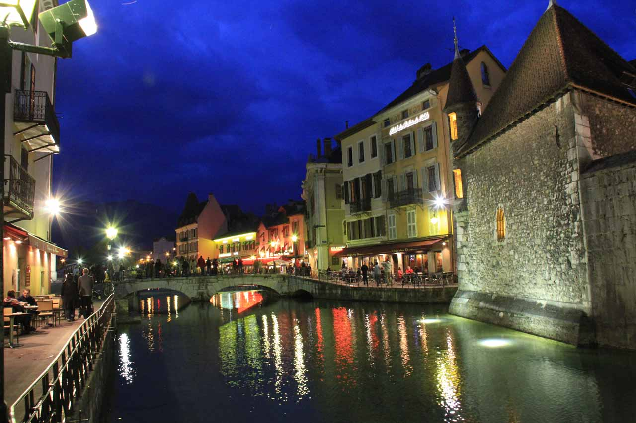 Since Julie and I stayed a few nights in Annecy, we were able to take photos of twilight in Old Annecy, which had to be one of the surprise highlights of our France trip