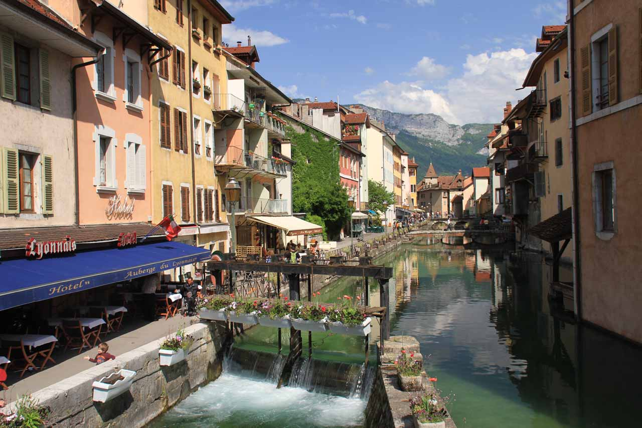The charming canal town of Old Annecy is roughly 30 minutes north of Seythenex
