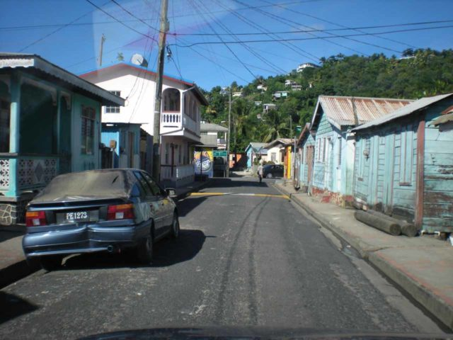 Anse_La_Raye_002_jx_11282008 - Looking back at the main drag of Anse La Raye, which was the town where we left the main road and headed further inland towards the Anse La Raye Falls