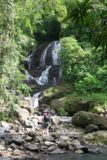 Anse_La_Raye_Falls_008_11282008 - Julie getting closer to the Anse La Raye Falls