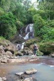 Anse_La_Raye_Falls_013_11282008 - context of Julie checking out the Anse La Raye Falls