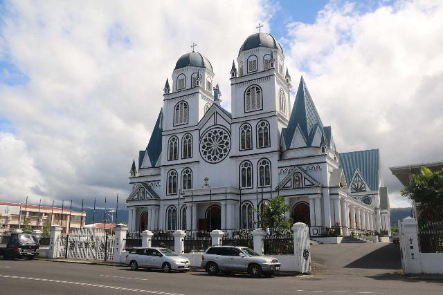 Apia_040_11122019 - Sauniatu was east of the city of Apia, which had an interesting mix of history and scenery such as the Immaculate Conception Cathedral shown here