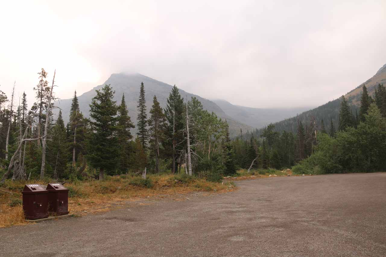 At the Scenic Point Parking Lot, which was also the trailhead for Appistoki Falls