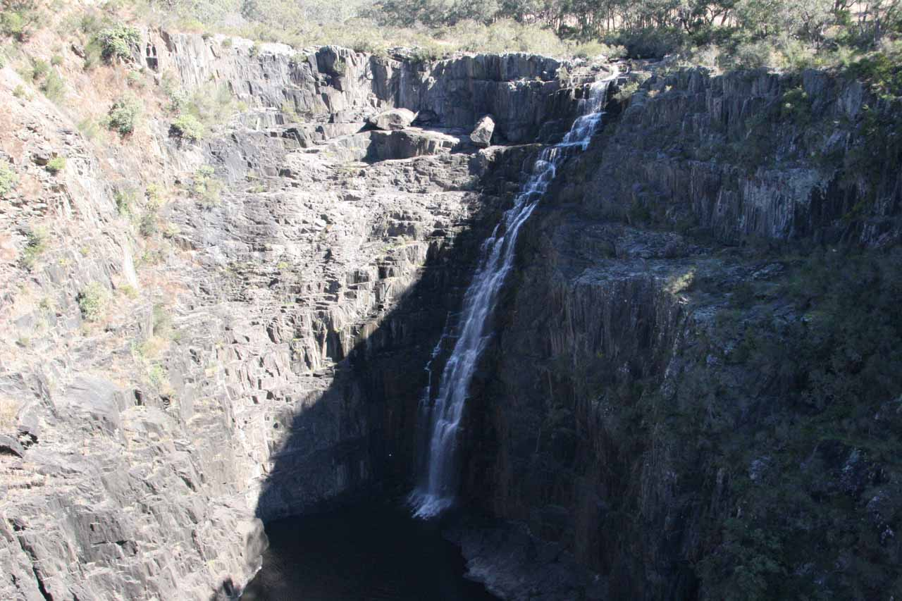 Looking directly at the Upper Apsley Falls