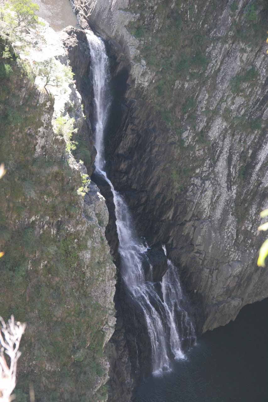 Zoomed in view of the Lower Apsley Falls from the very end of the track
